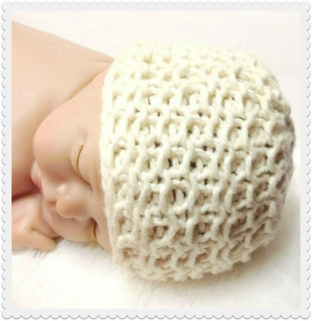 KnitPicks – Organic Cotton Heirloom Baby Hat, Knitting Pattern by Lee Bernstein